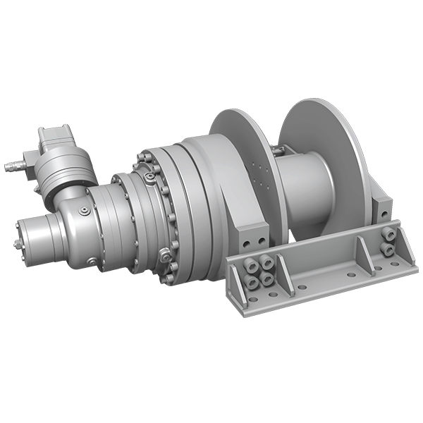 Hydraulic winches - bevel gear & planetary gearbox