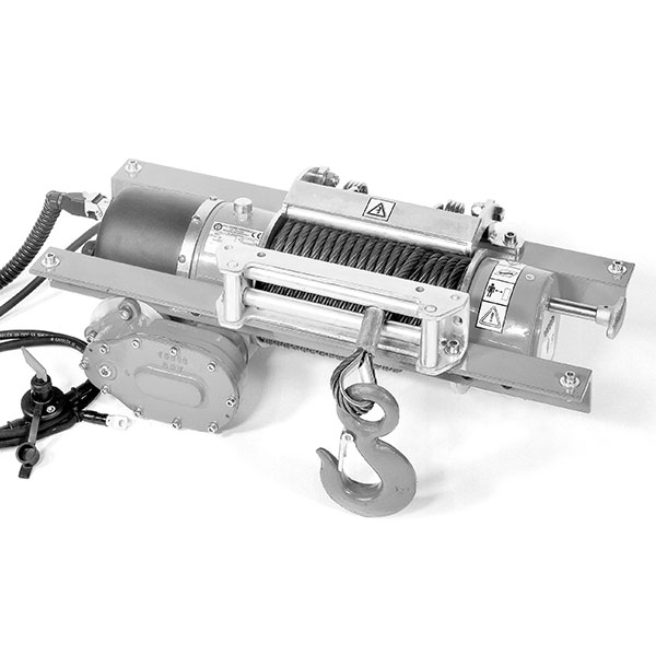 Electric (12-24V DC) winches - worm drive system